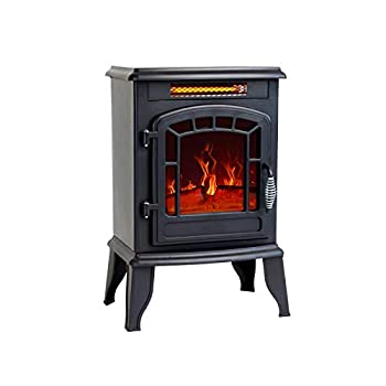 FLAME&SHADE Electric Fireplace Stove 23 inch Portable Freestanding Space Heater for Indoor use