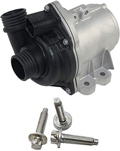 Electric Engine Water Pump w/Bolts Compatible with BM-W E60 E70 E90 F01 F02 F07 F10 135i 335i 535i 1M 640i 740i 740Li X3 X5 X6 Z4 sDrive35i xDrive35i with 3.0L N54/N55 Engine 11517632426 11537549476