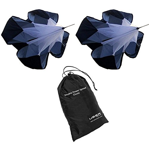 Uber Soccer Resistance Parachute- Double Speed Chute for Power Training