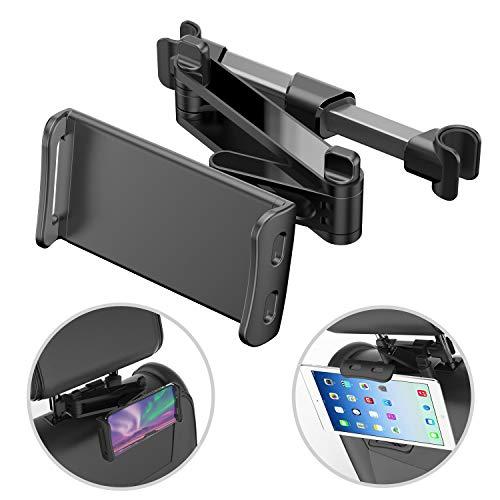 Supporto Tablet Auto, Porta Tablet, Supporto Universale Poggiatesta Auto Regolabili Rotazione a 360 °, Compatibile con 4,7-7,9 Pollici iPad, Samsung, Tablet Huawei