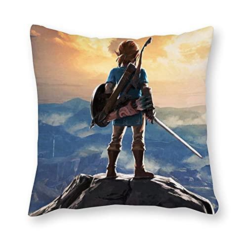 The Legend of Zelda - Almohada de cojín (40 x 40 cm), diseño de arte pop