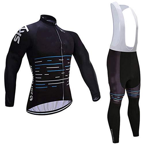 LYzpf Fietsen Pak Bike Kleding Kit Draag Broek Jerseys Kleding Absorb Sweat Mode Herfst Lange Mouw Voor Outdoor Sport Fietsen Mannen Vrouwen