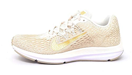 Nike Damen WMNS Zoom Winflo 5 Laufschuhe, Mehrfarbig (Phantom/Metallic Gold/String/White 008), 39 EU