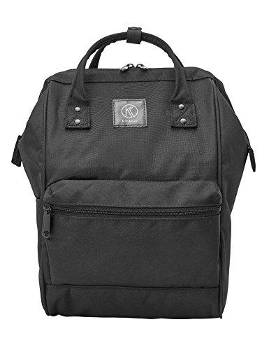 Kah&Kee Polyester Travel Backpack Functional Anti-theft School Laptop for Women Men (Linen Purple, Large)