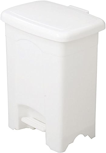 Safco Products Plastic Step-On Waste Receptacle, 4 Gallon, blanc, 9710WH by Safco