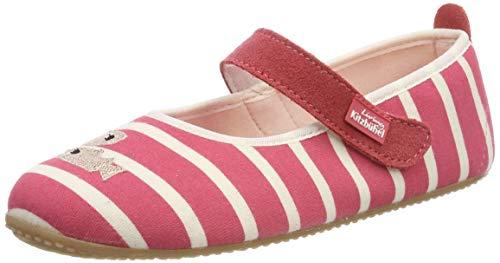 Living Kitzbühel Mädchen Ballerina Streifen & Fisch Hausschuhe, Pink (Flamingo 348), 36 EU