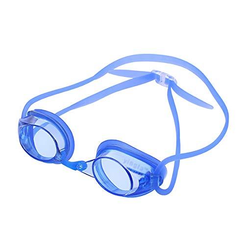 QQSS Gafas de Natación de Miopía, Anti-vaho Protección UV Sin Filtraciones Visión Clara Fáciles de Ajustar Gafas Piscina, Graduación de -1.5 a -3.0