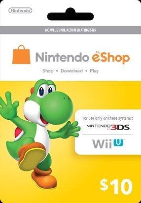Nintendo Yoshi المدفوعة مسبقا eShop $ 10