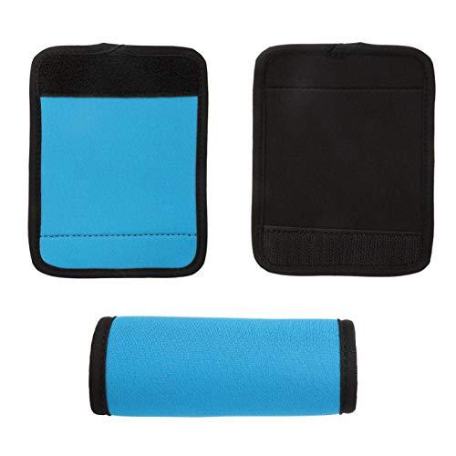 Envoltura de manija de Equipaje, Envoltura de manija Universal Funda de manija de Maleta Duradera, cómodamente Resistente para Productos al Aire Libre Picnic(Blue)