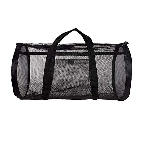 GeKLok Bolsa de viaje de malla grande para buceo, equipo de buceo y equipo de esnórquel, bolsa seca para aletas, esnórquel para buceo o esnórquel (tamaño: 90 x 40 x 40 cm)