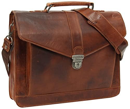 Gusti Aktentasche Leder - Paxton Businesstasche Umhängetasche Bürotasche Messenger Bag...