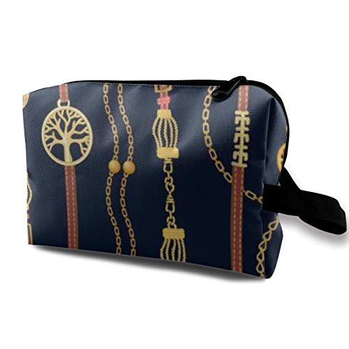 zmzm Bolsas de Almacenamiento con cremallerasMakeup Bag Cosmetic Pouch Elements Fashion Accessories Multi Functional Bag Travel Kit Storage Bag
