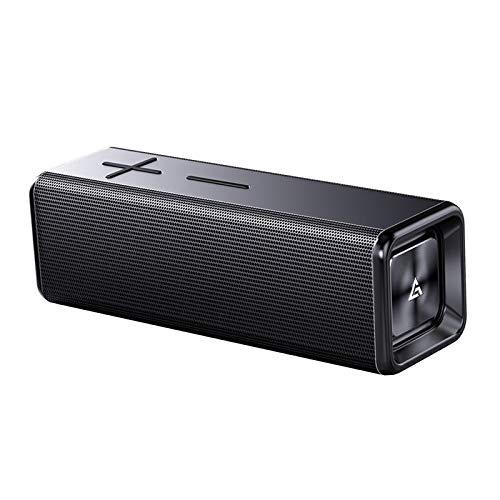Shiwaki Poderoso 10W Altavoz Bluetooth 2000 mAh Horas de batería portátil de Interior/al Aire Libre Deep Bass inalámbrica Altavoces Fuerte Cierto Sonido - Oscuro