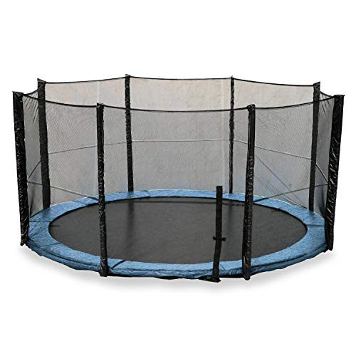 We R Sports 6ft, 8ft, 10ft, 12ft, 14ft, 16ft 6FT Replacement Trampoline Safety Net Enclosure Surround (14FT-6 Leg - 12 Pole Net)