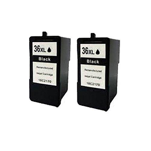 2Noir ECS cartouche d'encre Compatible remplace 36x l pour imprimante Lexmark X3650X4650X5650X6650X6675Z2420