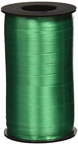 Berwick 3/8-Inch Wide by 250 Yard Spool Super Curl Crimped Splendorette Curling Ribbon, Emerald