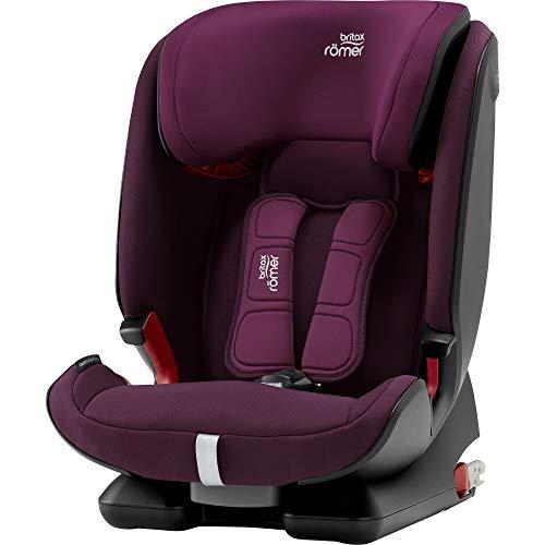 Britax Römer Kindersitz 9 - 36 kg (≈ 9 Monate - 12 Jahre), ADVANSAFIX IV M Autositz ISOFIX Gruppe 1/2/3, burgundy red