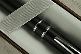 Cross Executive Companion Matte Black,Cross Signature Jewelry-quality Center Bands & Spring Loaded Unique Clip BallPoint Pen .Great gift for Graduation,Christmas,Wedding, Birthday,Christening etc