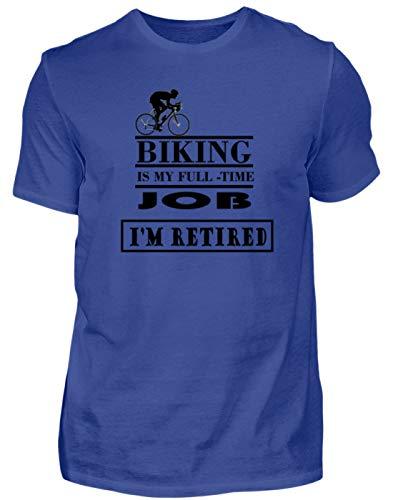 Generiek hoogwaardig herenshirt - fiets rijden is mijn voltijd-job, ik ben in pensioen eenvoudig en grappig design