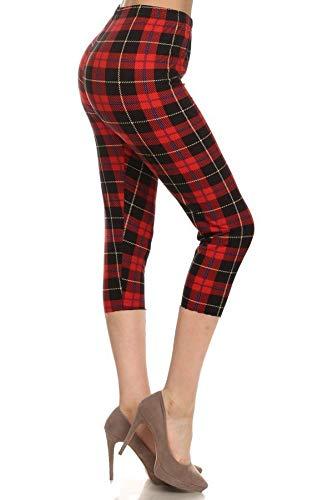 Leggings Depot Capri-Leggings mit hoher Taille, weich und schlank – mehr als 37 Farben - - 3X/5X Mehr (3X / 5X/Größe 22W/ 32W)