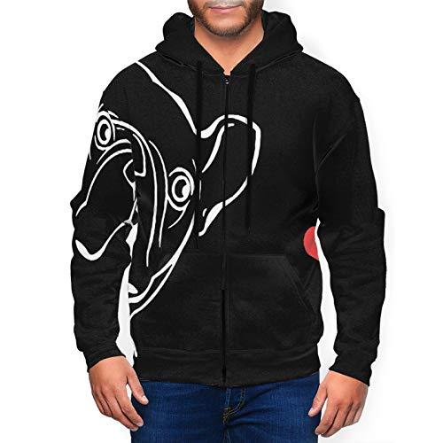 Hello Gorgeous Mens Full Zip Hoodie Baby French Bull Dog Sweatshirt Novelty 3d Hooded Tops Fleece Sports Hoodie With Pocket Black