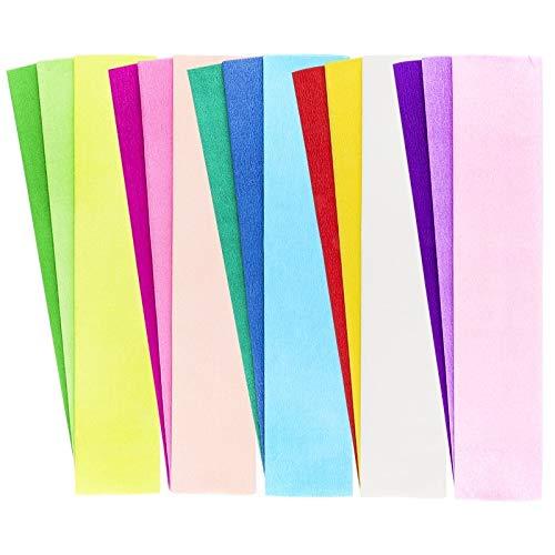 Krepp-Papiere, 50cm x 200cm, 15 Stück (15 Farben)