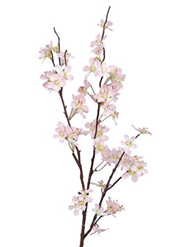 artplants.de Deko Apfelblütenzweig, rosa - weiß, 85cm - Kunstblumen - Künstlicher Zweig