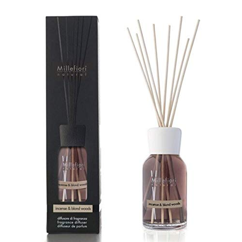 Millefiori Milano Natural Refill for Stick Diffuser 250Ml Incense & Blond Woods