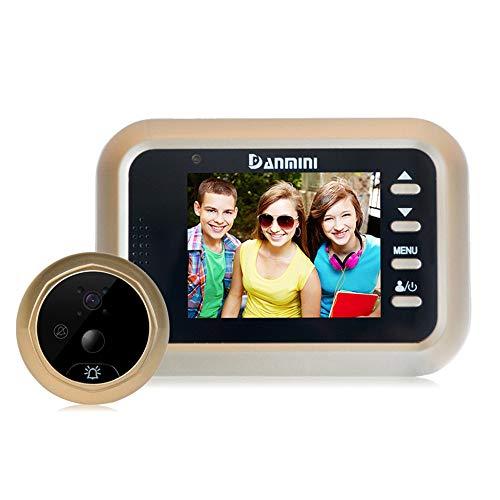 KAIDILA Digital Puerta Visor cámara 2.4 Pulgadas Smart Puerta Ojo Video Registro Mirilla espectadores IR Noche visión Timbre Home Security