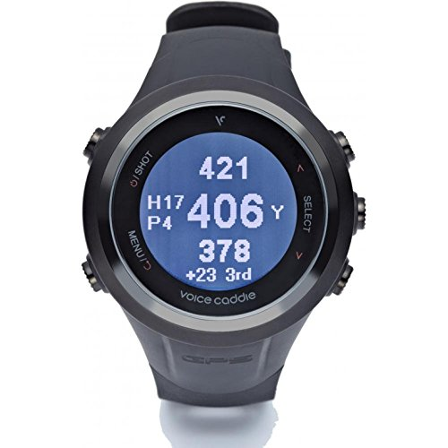 Voice Caddie T2-GPS de Golf (Composite) Couleur : Noir