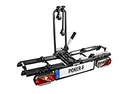 """EUFAB 12010LAS bike carrier: clutch carrier """"Poker-F"""" (formerly """"Raven"""") foldable, suitable for 2 bikes, for e-bikes"""
