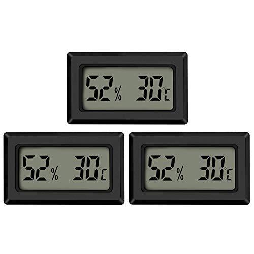 Thlevel 3PCS Mini LCD Digitale Termometro Igrometro Temperatura Umidità Misuratore