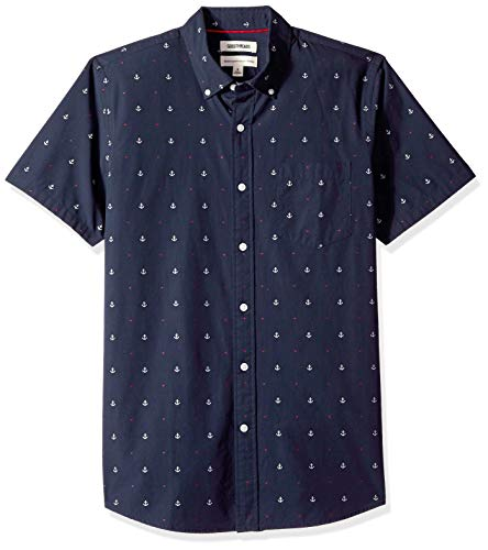 Marca Amazon – Goodthreads – Camisa dobby de manga corta