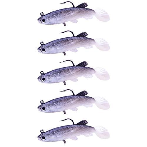 Honestyi Hochsimuliertes Soft Shrimp Bait Set Angelhaken Angelgerät Seefischen Gummifisch Zanderköder