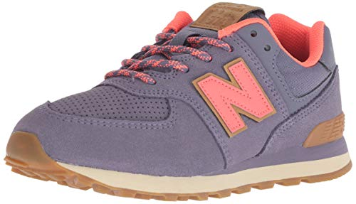 New Balance Girls' Iconic 574 Sneaker, deep Cosmic Sky/Dragonfly, 3 M US Infant