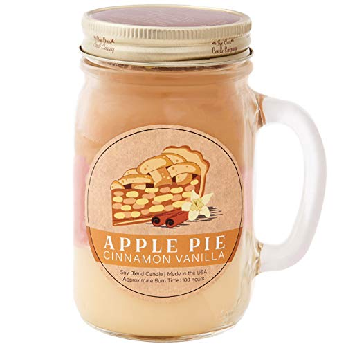 Our Own Candle Company Scented Candle, Apple Pie Cinnamon Vanilla, Soy Blend Wax, Large Jar, 100 Hour Burn Time