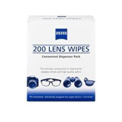 Zeiss Pre-Moistened Lens Cleaning Wipes Cleans Bacteria Germs 200 wipes NEW
