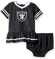 NFL Las Vegas Raiders Baby-Girls 2-Piece Football Dress Set, Black, 3-6 Months