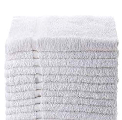 Towels N More 12 Pack White Soft 100% Cotton 15X25 Basic Hand Towels- Gym Towels (12)