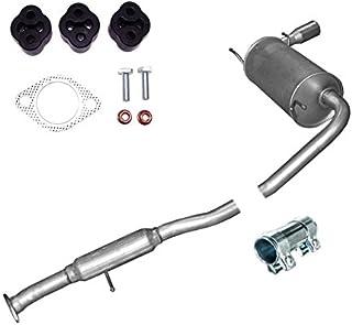 Auspuff ENDSCHALLDÄMPFER Mittelschalldämpfer + Montageware Neuware (passend für das angegebene Fahrzeug ,siehe Artikelbeschreibung)