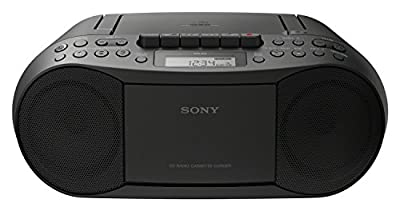 Sony CD/Cassette Player Black 2x 1.7W RMS Output CD-R/RW Compatible - CFDS70B.CEK (TV & Audio > Home Audio) +}a