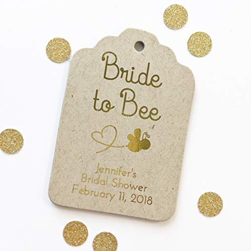 Bride to Bee Color Foil Wedding Favor Tags, Honey Wedding Hang Tags (ST-186-F)