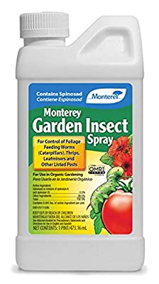 Monterey LG6150 Garden Insect Spray, Insecticide & Pesticide with Spinosad Concentrate, 16 oz, 16 oz.