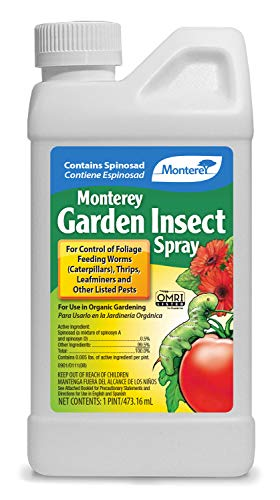 Monterey LG6150 Garden Insect Spray, Insecticide & Pesticide with Spinosad Concentrate, 16...