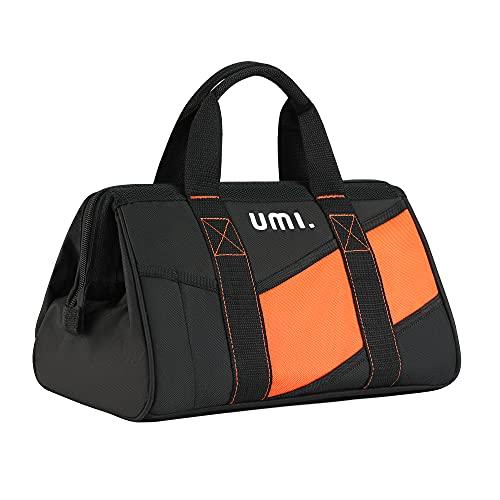 Amazon Brand – Umi Borsa Porta Attrezzi 33cm, Borsa Porta Utensili da Lavoro a Bocca Larga, Ideale per Fai da Te, Elettricisti e Professionisti