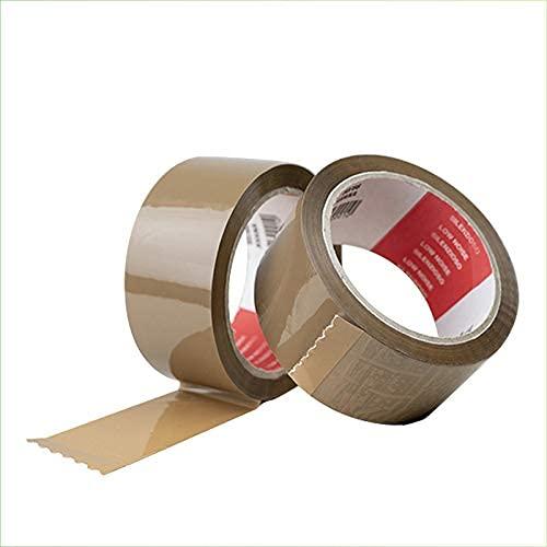 Virsus 6 rotoli nastro adesivo pacchi misura 50x66 mt srotolamento silenzioso nastro da imballaggio colore AVANA