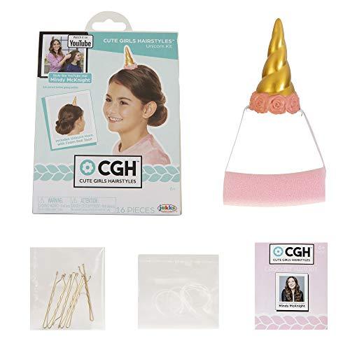 CGH Cute Girls Hairstyles! Unicorn Hair Kit with Bun Maker Foam Roll Tool