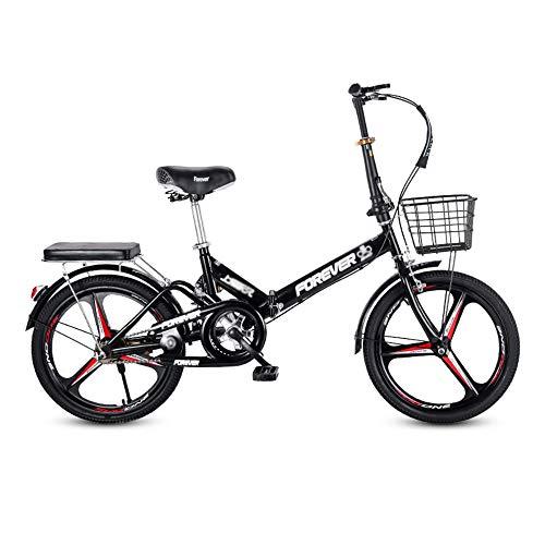 Bicicleta, Bicicleta de CercaníAs PortáTil de 20 Pulgadas, Bicicleta Recreativa Urbana de 7 Velocidades, Marco Plegable, Frenos en V Dobles, para Adultos/Adolescentes/B/El 150x100CM