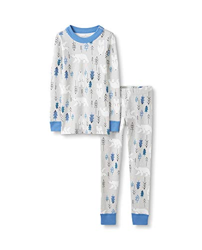 Moon and Back by Hanna Andersson Baby Toddler Kids Organic Holiday Family Matching 2 Piece Pajama Set, Polar Bears, 12-18 months