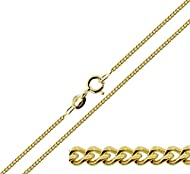 """9ct Gold Plated on Sterling Silver 1.8mm Curb Chain 16"""" (41cm) This chain weighs approx. 3.4 grams Presented in a gift box - UK Company"""